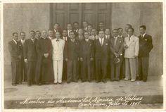 Membros da Academia Sul Mineira de Letras, fundada em reunião em Cambuquira-mg