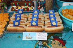 Jake and the Neverland Pirates Party - Bucky's Pirate Ship Hot Dogs