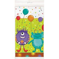 """Party Monsters Table Cover, 84"""" x 54"""""""