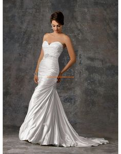Traîne mi-longue Inspiration vintage Naturel Robes de mariée 2015