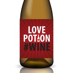 Get Creative This Valentine's Day By Labeling Your Own Bottle Of Wine! Printable Love Potion # Wine ... Wine Label Wrap by Gifted Labels.