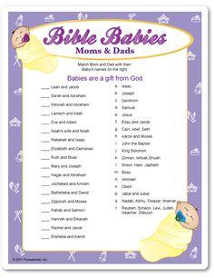 Printable Bible Babies Moms & Dads - Swaddled Babies