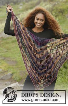 Loren by DROPS Design. Simple, but so pretty <3 Free #crochet pattern