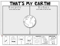 Thats My Earth! {Reduce and Recycle} Sort for Earth Day. $