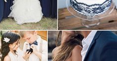 If you want a wedding that has nautical navy with the romance of lace, take inspiration from this beautiful wedding.