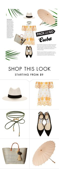 """""""Cuba"""" by janicevc ❤ liked on Polyvore featuring rag & bone, Miguelina, Accessorize, Jimmy Choo, Anja, Hat Attack and Cultural Intrigue"""