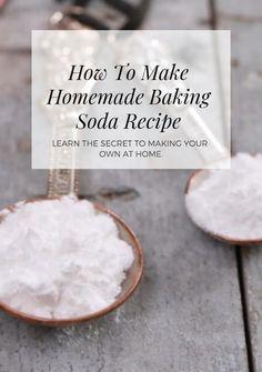 How to Make Baking Powder and Baking Soda Explained - Gemma's Bigger Bolder Baking Make Baking Powder, Homemade Baking Powder, Baking Powder Recipe, Baking Soda For Cooking, Baking Tips, Cooking Recipes, What Is Baking Soda, Cooking 101, Baking Soda Replacement