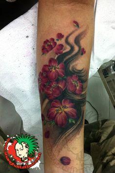 Flowers Magnolias Forearm Tattoo