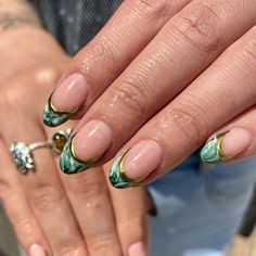 """𝘊𝘢𝘯𝘥𝘺 𝘊𝘭𝘢𝘸𝘴🍬's Instagram profile post: """"living for this jade stone tips & natural nail combo Using all @the_gelbottle_inc polishes in BIAB 20, IVY, blooming gel & Daisy🐲 Combo…"""" Jade Stone, Natural Nails, Nail Inspo, Claws, Ivy, Bloom, Polish, Nail Art, Profile"""