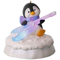 Merry Music Makers Groovin' Guitar Ornament With Light and Music