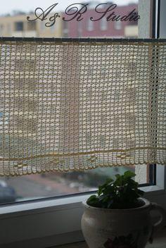 Crochet curtain. Filet crochet curtain.. $80,00, via Etsy.