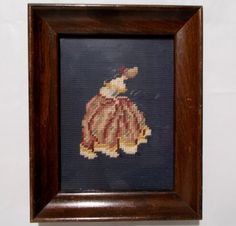 Completed Needle Point Victorian Lady or Southern by Tntbrbefan
