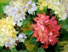 Circle of Friends Hydrangeas by Texas Flower Artist Nancy Medina, painting by artist Nancy Medina Dallas Arboretum, Flower Artists, Hydrangea Not Blooming, Still Life Flowers, Spring Painting, Painting Inspiration, Watercolor Art, Original Paintings, Canvas Art