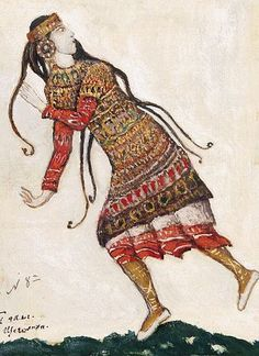 """Sketch of costumes for """"The Rite of Spring"""" - Nicholas Roerich"""