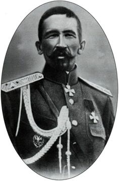 White Army General Kornilov, in the Russian Civil War 1917.