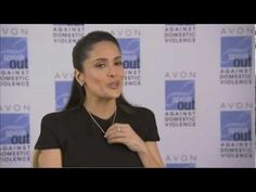 "2013 Avon Communications Awards - Salma Hayek Pinault for Avon's Speak Out Against Domestic Violence and wears the Empowerment Necklace. You can purchase this for just $5 and 100% of the proceeds goes towards the mission.  Buy the necklace at http://www.YourAvon.com/TrishaDunn or email me at IndianaAvon@yahoo.com  Join Avon, use special code ""TrishaDunn"" at http://www.Start.yourAvon.com"