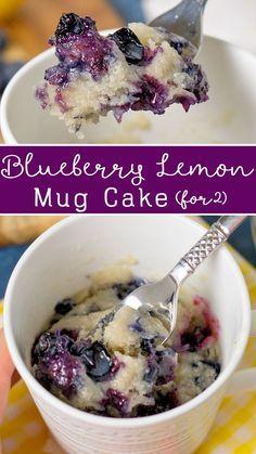 Mini Desserts, Blueberry Desserts, Easy Desserts, Delicious Desserts, Blueberry Cake, Quick Simple Desserts, Blueberry Recipes For Two, Dessert Recipes, Dessert Simple