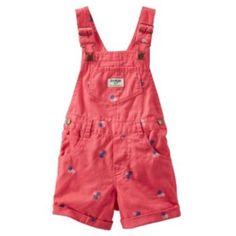 Baby Girl OshKosh B'gosh Patterned Shortalls