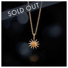 accomplish magnificent things starburst necklace, 18K gold