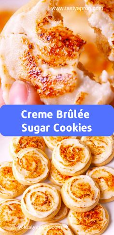 Creme Brûlée Sugar Cookies – Famous Last Words East Dessert Recipes, Desserts Français, French Desserts, Easy French Recipes, Easy Delicious Recipes, Healthy Recipes, Sugar Cookies Recipe, Cookie Recipes, Brulee Recipe