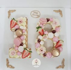 Decoration anniversaire ans/idee deco pas cher SkyLantern How perfect is this fruity number vake? 18th Birthday Cake For Girls, Number Birthday Cakes, 18th Birthday Party, Birthday Numbers, Birthday Cake Cookies, Number One Cake, Number Cakes, Cake Lettering, 18th Cake