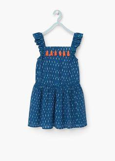 Vestido estampado borlas<br/> | MANGO KIDS