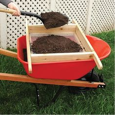 Wheelbarrow Sifter for Compost and Soil A.M. Leonard http://www.amazon.com/dp/B00D9F3E8S/ref=cm_sw_r_pi_dp_7ACCvb0B0A80S