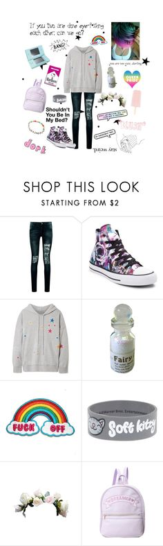 """""""~Don't let anyone tell you you're not a unicorn~"""" by the-demon-child-in-your-closet ❤ liked on Polyvore featuring Boohoo, Converse, Chinti and Parker, Nintendo and Theory"""