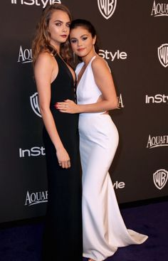 Cara Delevingne and Selena Gomez at the Golden Globes after party 2015