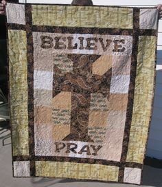 My Mother's Prayer Quilt  ... whoever made this, it is beyond beautiful