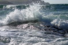 'Wave Break' - Rocky beach, Trevone, Padstow, Cornwall