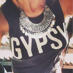Spiritual Gangster Gypsy yoga muscle tee  #jewels