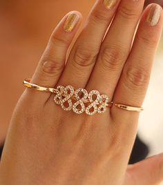 Fashoin Costume Fashion Double Fingers Ring - Yaling Jewelry