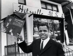 Berry Gordy Jr. outside the Hitsville USA on West Grand Blvd in Detroit. This picture was taken by Tony Spina/Chief Photographer of the Detroit Free Press in 1964...Great link! Music Explosion, Berry Gordy, Happy 60th Birthday, Detroit Free Press, Life Insurance Companies, Marvin Gaye, Sweet Soul, Passion, Soul Music