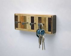 Upcycled Key Racks - These Rustic Hip Key Racks are Made of Wood from Old Shipping Pallets (GALLERY)
