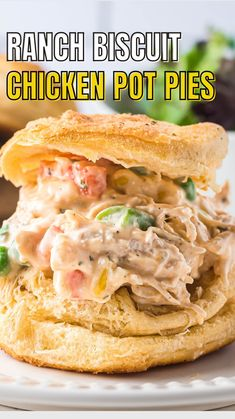 Pie Recipes, Great Recipes, Chicken Recipes, Dinner Recipes, Cooking Recipes, Favorite Recipes, Recipies, Biscuit Chicken Pot Pie, Everyday Food