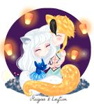 Meiyaa ( my caracter in Eldarya Game)  And Leiftan by Meiyaaesc.deviantart.com on @DeviantArt #eldarya #leiftan #chibi