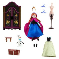 Anna Mini Doll Wardrobe Play Set - Frozen