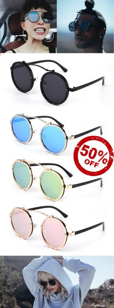2eff34f3855 Round Metal Steampunk Sunglasses - Unisex Steampunk Sunglasses