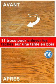 Vous Avez une Table en Bois ? 11 Astuces Miracles Pour Faire Disparaître Toutes les Taches.