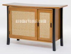 Contoh meja yang dihiasi Ajiro