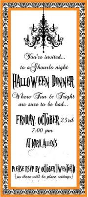 Dinner invite - could use for Murder Mystery dinner