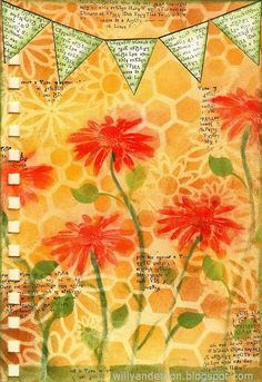 """Art Journal page: Spring is nature's way of saying, """"Let's party!"""""""