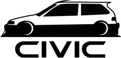 Civic Car, Honda Civic Type R, Jdm Stickers, Japanese Domestic Market, Bmw E30, Car Logos, Car Drawings, Japanese Cars, Stenciling