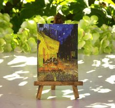Vincent van Gogh Table - Canvas on Easel by ForMomentsinTime on Etsy