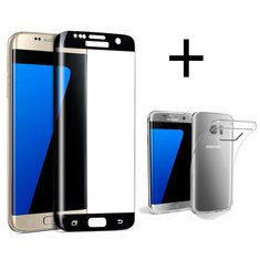 [US$7.99] Bakeey™ 3D Curved Edge Tempered Glass Film With Transparent TPU Case for Samsung Galaxy S7 Edge  #bakeey #case #curved #edge #film #galaxy #glass #samsung #tempered #transparent #with