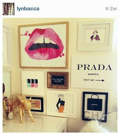 Prada and Chanel chic artwork
