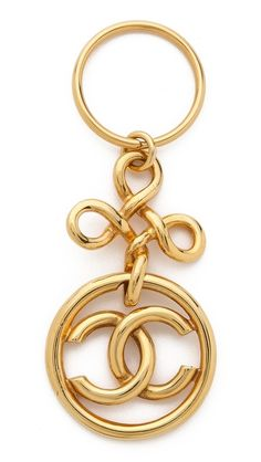 What Goes Around Comes Around Vintage Chanel CC Twist Keyring