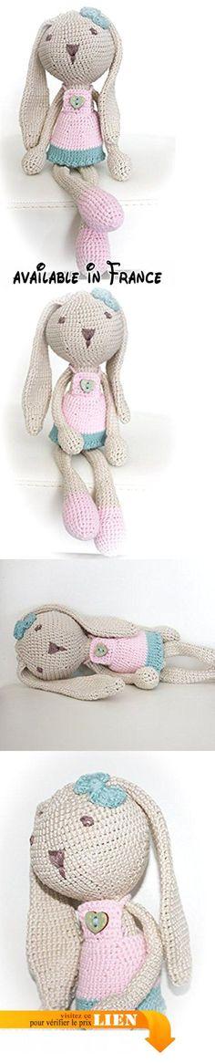 Doudou lapin au crochet en coton, doudou lapin fait main.  #Guild Product #GUILD_TOYS_AND_GAMES