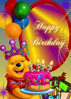 Best Birthday Quotes : Happy Birthday – Whinny the Pooh birthday quotes birthday greetings birthday images birthday quotes birthday sister birthday wishes Happy Birthday Greetings Friends, Happy Birthday Wishes Photos, Happy Birthday For Her, Birthday Wishes For Kids, Happy Birthday Celebration, Birthday Blessings, Happy Birthday Messages, Birthday Ideas, Disney Happy Birthday Images